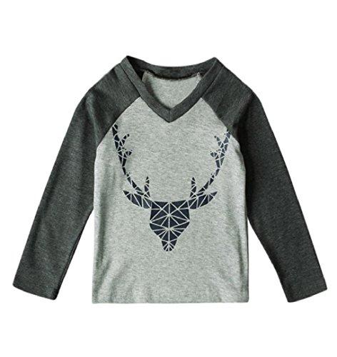 Baby Set aus Shirt Langärmlig + Hose mit Kappe,ZEZKT Geschenke für Weihnachten Kinder Mädchen Jungen  (3 Jahr, Grau) (Größe 5t Hexe Kostüm)
