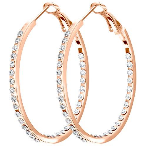 Hypoallergenic Diamante Cubic Zirconia CZ Womens Hoop ...