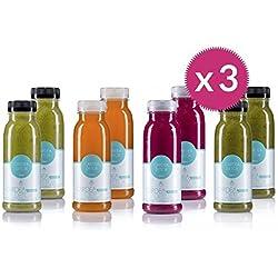 Detox Saftkur - Ideal für Heilfasten & Abnehmen - Detoxkur für ein Leben mit mehr Balance & ausgewogener Ernährung - Tägliche Säfte/Smoothies & Nussmilch - von Cardea Detox (3 Tage Easy Detox)