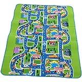 Baby Play alfombrillas niños juegos Fun ciudad, ciudad coches juego carretera alfombra EVA espuma juguete de gateo., 200x 160x 0.5cm, 200x160x0.5cm