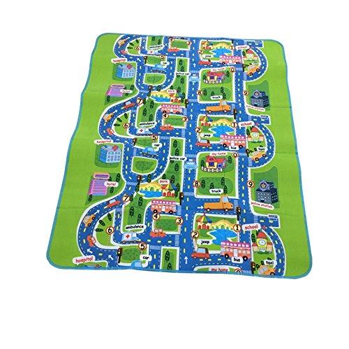 Baby Play Mats Kinder City Spielmatte Fun Town Cars Play Road Teppich Teppich EVA-Schaum Spielzeug Krabbeldecke, 200x 160x 0,5cm, mehrfarbig, 200x160x0.5cm