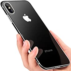 iPhone Xs Hülle , iPhone X Handyhülle , Omitium Crystal Schutzhülle iPhone Xs Silikon Hülle Ultra Dünn TPU Bumper Case Anti-Shock Kratzfest Weich Hülle für iPhone X/iPhone Xs Case Cover , Transparent