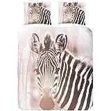 Para cama de matrimonio algodón 100 por ciento diseño de amanecer de funda de edredón de piel de cebra, Multi-color