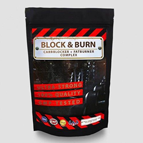 Block&Burn - 100 Kapseln - CARBBLOCKER (Kohlenhydrat-Blocker) + FATBURNER, Gewichtsreduktion - Diät - Abnehmen - 100% natürliche Inhaltsstoffe