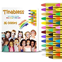 HENMI 36 Colors Face Paint Crayons, Non-toxic Safety, Body Painting Kit Makeup for Kids Easter/Halloween/Christmas/Makeup Cosplay, EN71 Certified