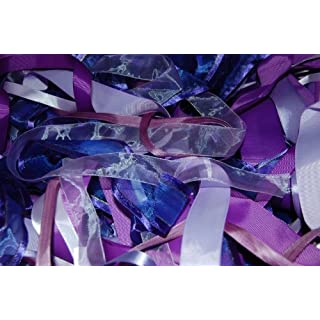 Assorted Purple Ribbon, Approx 25m Per Bag by Anycraft-UK