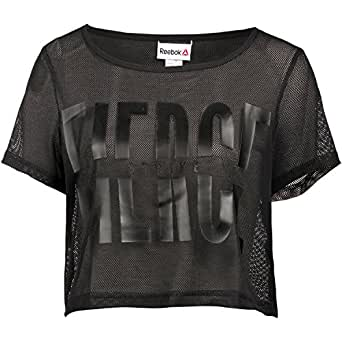 Reebok Women's Printed T-Shirt (S93751S_Black)