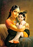#2: Tallenge Indian Art Painting Yashoda with Krishna Poster (12 x 17 inches)