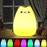 Veilleuse LED , Omitium LED Chat Veilleuse Silicone Veilleuse de Bébé Portable...
