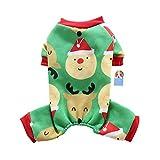 Yunt pigiama cane Babbo Natale modello Pet abbigliamento comodo Pet tuta casual vestiti verde