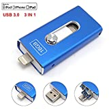 Für das iPhone USB 3.0 Flash Drives Memory Stick Für iPhone 6 6S 7 Plus, iPad 16GB USB-Sticks Tipmant OTG Lightning iOS Apple Handy Pendrive 3in1 - Blau