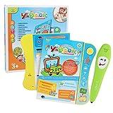 WOSOSYEYO Bambini Common Sense Intelligence cognitiva Logica Libro di apprendimento con Penna di Lettura Punto Giocattoli educativi precoci