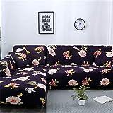 JITIAN Sofabezug Universal Elastic Couch Cover Leder Vintage Schonbezug Full Cover Stoff Kombination...