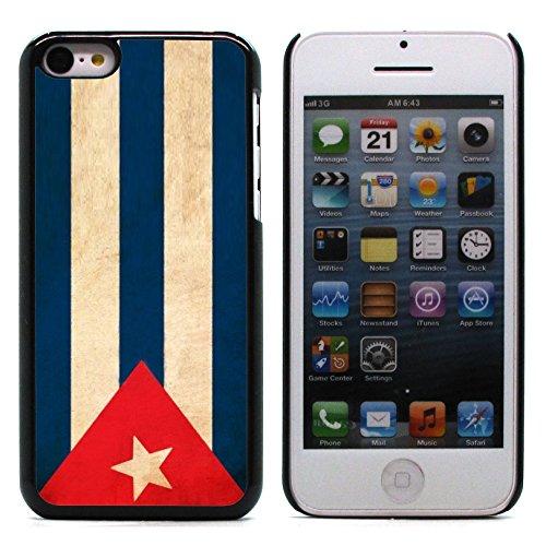 Graphic4You Vintage Uralt Flagge Von Guatemala Guatemalteke Design Harte Hülle Case Tasche Schutzhülle für Apple iPhone 5C Kuba Kubanisch