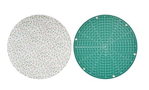 atte für Schneiden und Bügeln Zwecke, 2in 1Multifunktions-integrierter Set, Schneidematte und Bügeleisen-Pad, innovative Wasserdicht Stoff, Blume zufällige Farbe ()