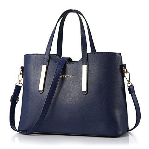 BYD - PU Leder Damen Totes Trendy Handtaschen Baguettes Shopper Clutches by Designer ( Sweet Sa)