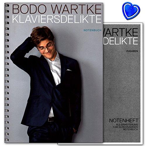 ngbook von Bodo Wartke für Klavier, Gesang, Gitarre mit bunter herzförmiger Notenklammer ()