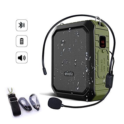SHIDU Bluetooth Amplificador voz 18W auriculares micrófono