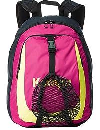 Kempa mochila con red para niños azul marino/magenta/amarillo 40 x 35 x 20 cm, 20 L