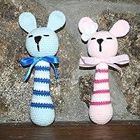 Sonajero conejo hecho a mano en ganchillo- AMIGURUMI