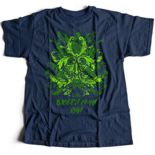 Flamentina 9369n Green Man Inn Herren T-Shirt The Wicker Man Summerisle Festival Lord Burning - Wicker Man-shirt