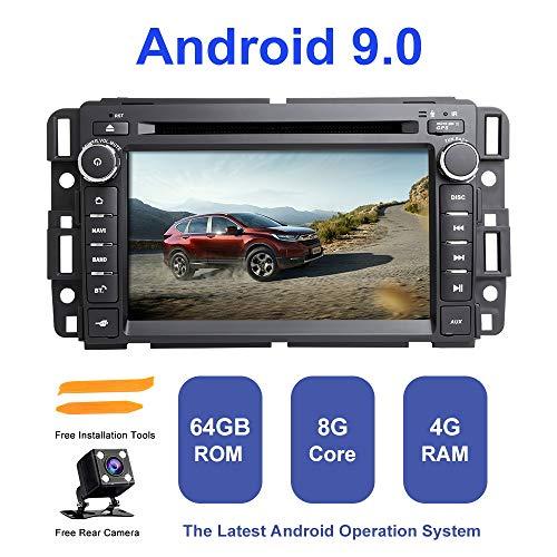 Android Autoradio Stereo, ZLTOOPAI Für Chevrolet GMC Hummer Yukon Acadia Buick Suburban TahoeExpress Android 9,0 Octa Core 4G RAM 64G ROM HD Multi-Touchscreen Auto Stereo GPS Radio DVD-Player (Hummer H2 1 10)