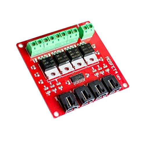 MagiDeal Vier Kanal Schalter Modul Mosfet 4 Route Schaltfläche Irf540 V2.0 Für Arduino Diy -
