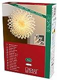 Konstsmide 2935-200 Weißer Papierstern, 60x60cm / für Innen (IP20) /  230V Innen / ohne Leuchtmittel / mit an/aus Schalter / weißes Kabel
