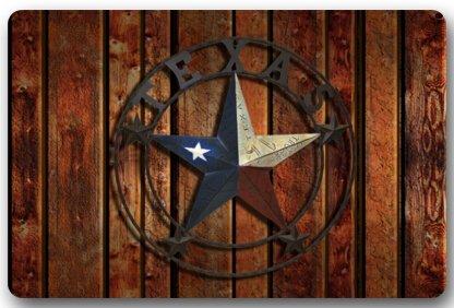 Texas Star Fußmatten Cover Rutschfest maschinenwaschbar Outdoor Innen Badezimmer Küche Decor Teppich Matte 76,2cm (L) X 45,7cm (W) - Western Cover
