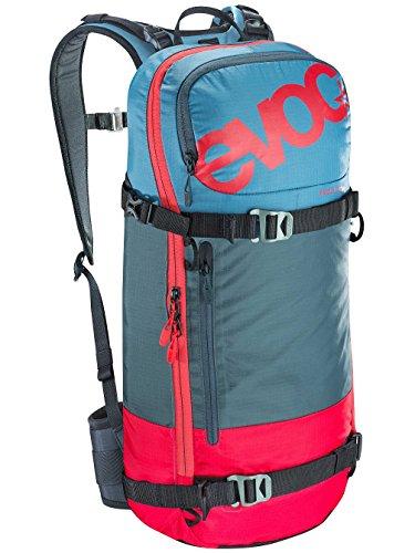 EVOC Herren Fr Day Team Protektor Rucksack, red/Slate / Copen Blue, 50 x 27 x 10 cm, 14 Liter