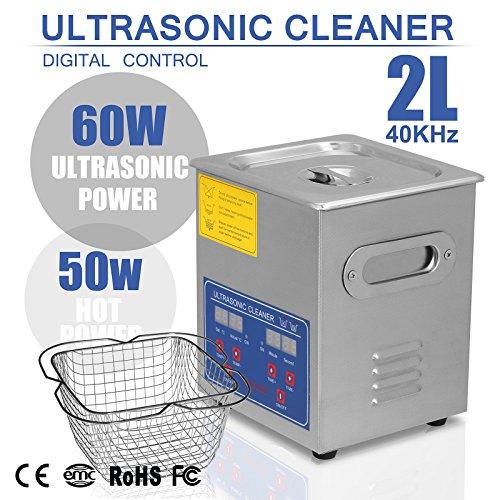 BuoQua Pulitore Ad Ultrasuoni Display Digitale Ultrasuoni Bagno Ultrasuoni Dispositivo Con Timer Digitale 2L