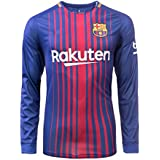 Shamyaan FC Barcelona Home Jersey kit for Adults - Full Sleeve 2017 - 2018 Season FCB Soccer Jersey - Barca Team Jersey - T Shirt and Shorts for Adult - Men & Boys. Replica Design Team Jersey of Barcelona's Home Jersey. La Liga season 2017/18. Excellent Dri-Fit Imported Quality Sportswear. Force Barca, Messi, Suarez, Inestia, Pique