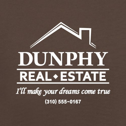 Dunphy Real Estate - Herren T-Shirt - 13 Farben Schokobraun