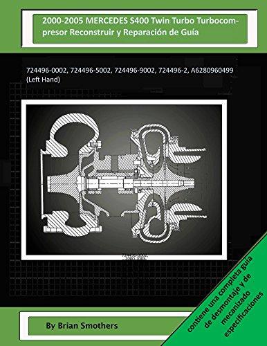 Descargas gratuitas kindle libros 2000-2005 MERCEDES S400 Twin Turbo Turbocompresor Reconstruir y Reparación de Guía: 724496-0002, 724496-5002, 724496-9002, 724496-2, A6280960499 (Left Hand) PDF iBook