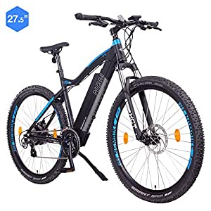"NCM Moscow E-Bike Mountainbike, 250W, 48V 13Ah 624Wh Akku, (27,5"" Schwarz)"