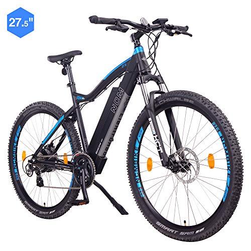 NCM Moscow Bicicleta eléctrica de montaña, 250W, Batería 48V 13Ah 624Wh (Negro 27,5)