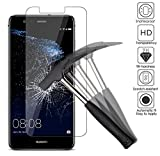 2x Huawei P10 Lite Screen Protectors, EJBOTH Premium Tempered Glass Screen Protector Phone Protective Films Invisible Transparent Crystal Clear Protection Display Shield For Screen Huawei P10 Lite - Ultra Resistant 9H Hardness Anti-bubble High Definition.