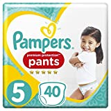 Premium Protection Pampers Pants Size 5 Nappies Pack of 2 x Pack of 40) (12-17 kg)