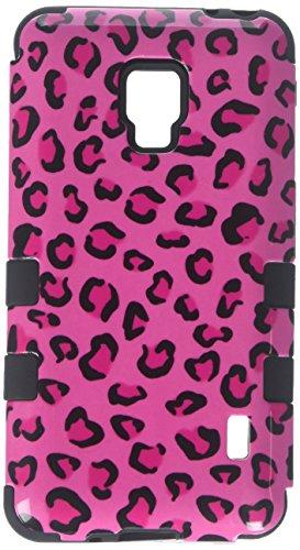 MYBAT TUFF Hybrid-Schutzhülle für LG Optimus F6 D500 / MS500, in Einzelhandelsverpackung, Pink/Schwarz (D500 Lg T-mobile Optimus F6)