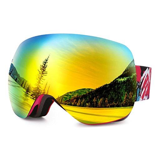 DAS Leben Skibrille Herren Damen Kinder Verspiegelt Wintersport Schutzbrillen
