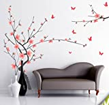 #10: Decals Design 'Branch with Flowers' Wall Sticker (PVC Vinyl, 50 cm x 70 cm)