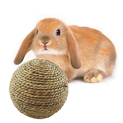 Mini Stroh-Spielball kleintiere spielzeug für Kleintier Häschen, ø 6 cm