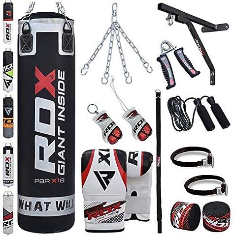 RDX Boxsack Set Gefüllt Kickboxen MMA Kampfsport Muay Thai Boxen mit wandhalterung Stahlkette Training Handschuhe 17 PC Schwer 4FT 5FT Punching