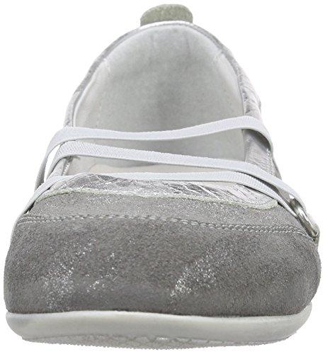 Richter 3414-734 Kinderschuhe Adele, Mädchen Geschlossene Ballerinas Silber (silver/rock  6101)