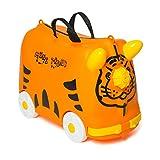 Valigia Per Bambini Trolley Bagaglio Perdo Cavalcabile Rigide (Arancione)