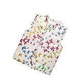 BOBORA Bambino ragazze farfalla stampato gilet inverno Gilet cotone Piumini cappotti 1-6 anni
