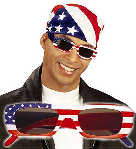 * USA SONNENBRILLE * als Verkleidung für Halloween, Karneval oder Amerika Mottoparty // MALE // Geburtstag Kindergeburtstag Stars Stripes Fan Brille rot weiss blau Sterne