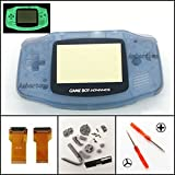 Backlight Case Cover für Nintendo Game Boy Advance GBA AGS 001 Mod Kit Ersatz Noctilucent Edition Luminous Blue