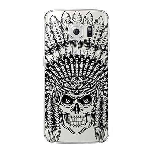 NOVAGO Elegante funda - gel de silicona irrompible - para Samsung Galaxy S6 (Indiano)