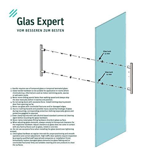 51uwqFu%2BkNL - Manija de Puerta Tirador de 350 mm de Acero Inoxidable Satinado Manija Puerta de Cristal